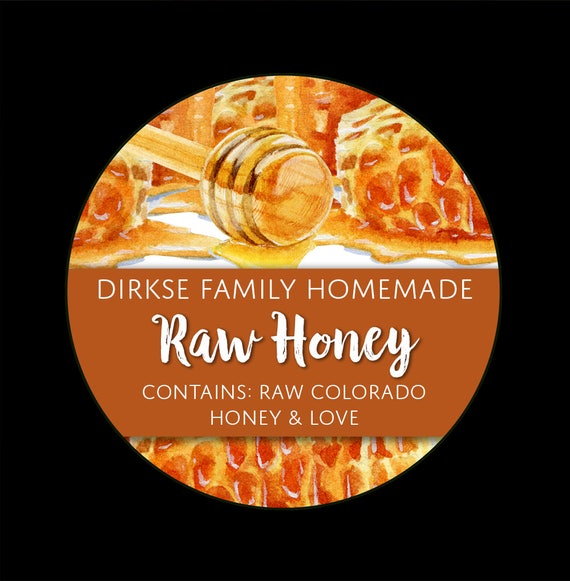 Honey dipper gift tags x4