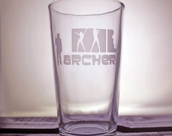 Archer Glassware - Pint Glass - Wine Glass - Pilsner - Drinkware - Danger Zone - Gift Ideas - Gifts for Him - Gifts for Her