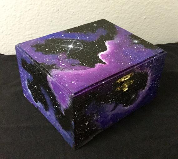 Pink Galaxy Trinket Box