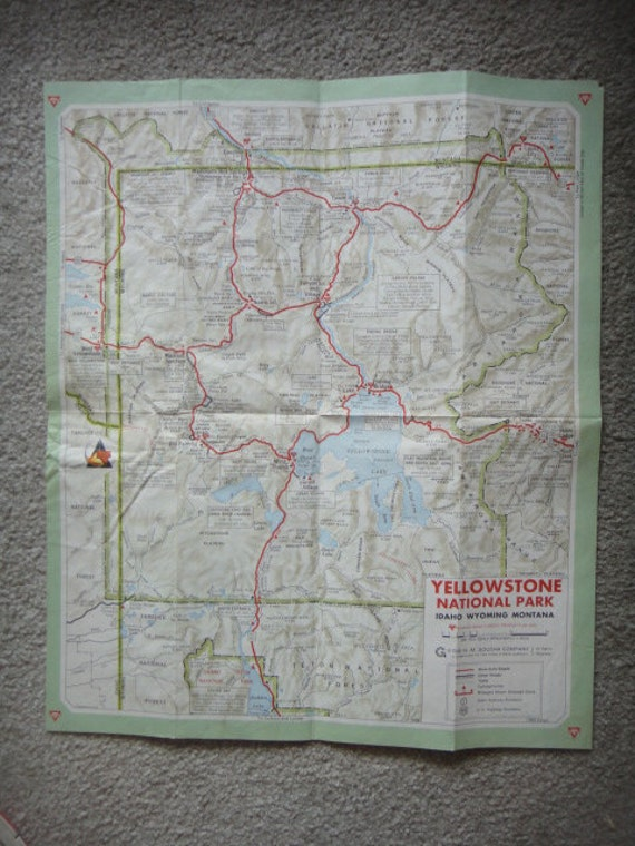 Yellowstone National Park Topographic Map.Vintage 1969 Yellowstone National Park Topographic Map Idaho Etsy