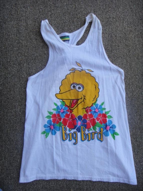 vintage 80s Big Bird swimsuit cover/cartoon charac