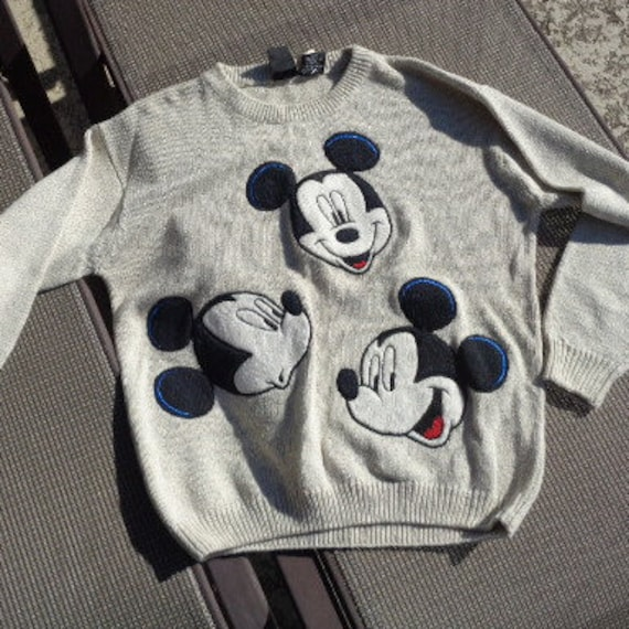 vintage Disney Mickey Mouse sweater  Large NWT GRE
