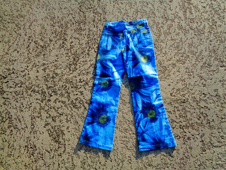 girls flower power groovy jeans NWT Dead Stock NOS NWT