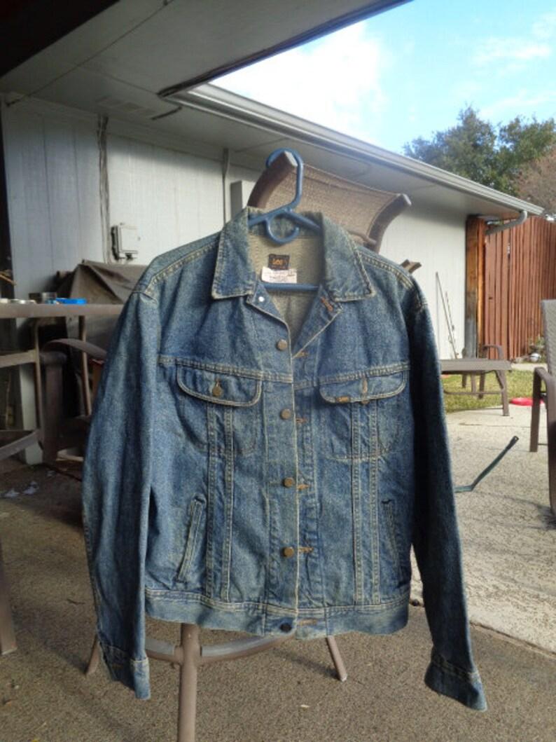 70s vintage Lee denim biker jacket croppedlargeVintage Lee Rooftop Records Rare