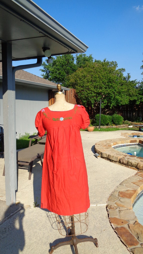 Vintage 70s Mexican Oaxaca Embroidered Dress /Stu… - image 7