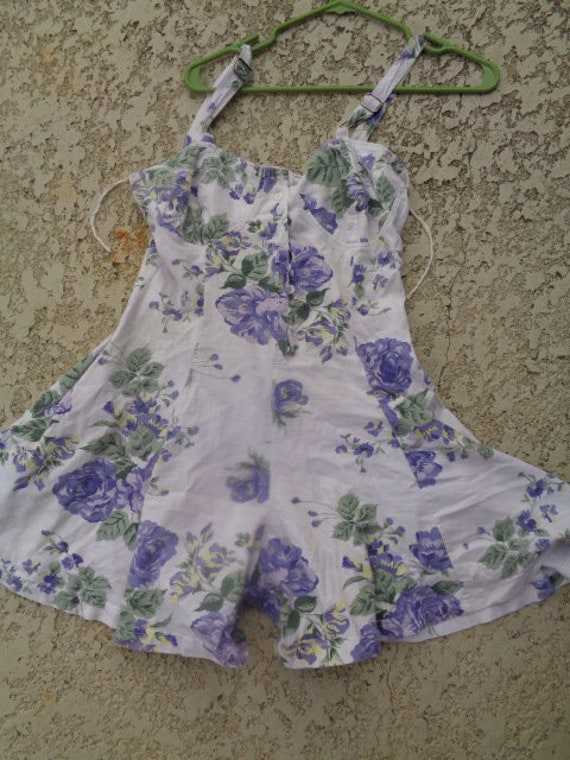 vintage 80s Energie playsuit  Playsuit  / One Piec