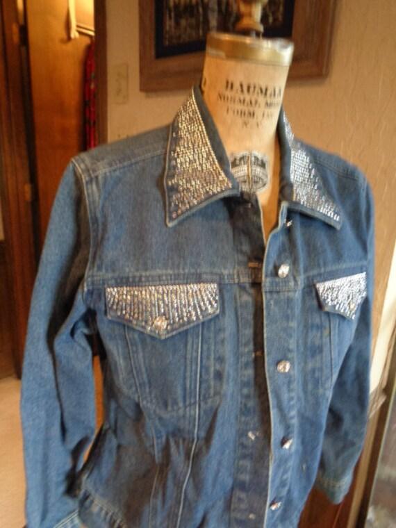 Christine Alexander M bling jean jacket , vintage