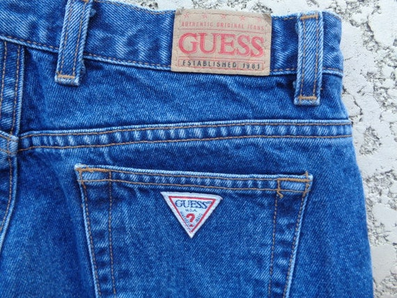 vintage 80's Guess jeans Guess jeans american fla… - image 8