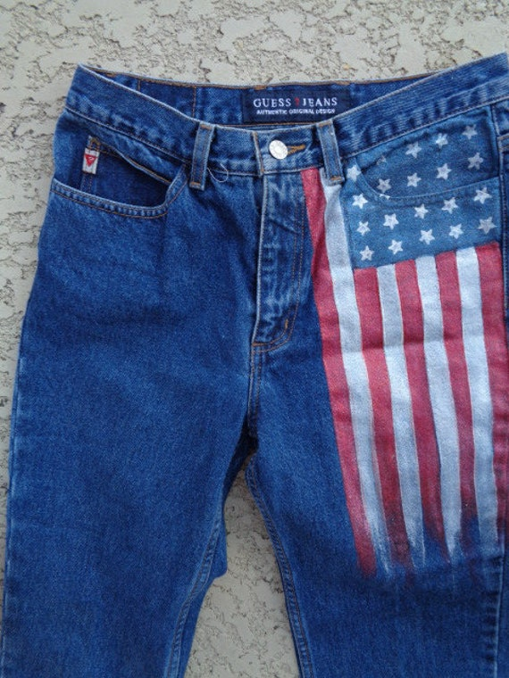 vintage 80's Guess jeans Guess jeans american fla… - image 5