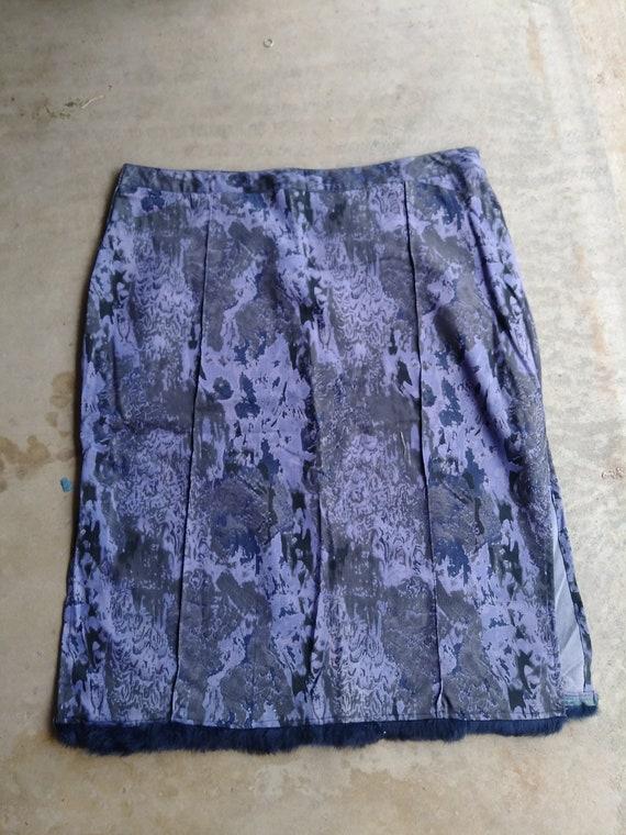 embellished denim skirt vintage 80s