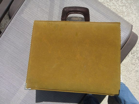 guinness leather briefcase 1970s, leather bag, lea