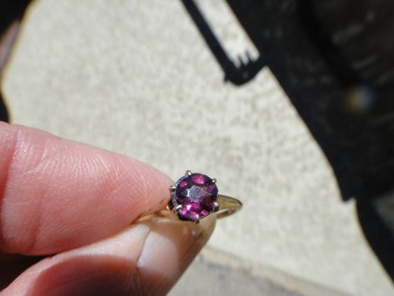 antique 14kt gold amethyst ?  ring  size 5 1/2 - image 5