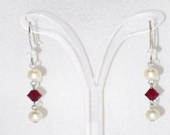 Deidre Earrings with Swarovski Crystal