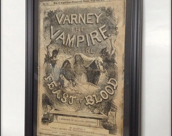 Penny Dreadful - Varney the Vampire Reproduction Cover Art Print A4 size
