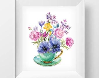 Still Life Print Vase With Flowers Vase Wall Art Vase Printable Room Decor Wall Art Printable Flowers Wall Art Room Wall Art Print & Flowers vase print   Etsy