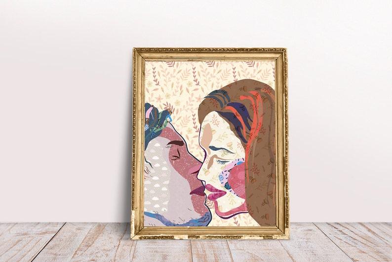 Kiss wall Ert Collage wall art Wall Art Printable Poster image 1