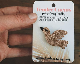 Vanda the bird - handmade brooch