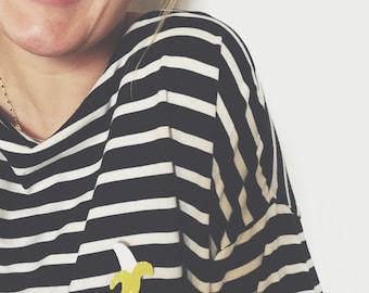 Lizzie the banana - handmade brooch