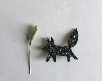 Fox Gaspard - Fox Brooch - brooch Fox - Handmade - soft Cactus - the Rochelle