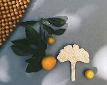Adèle the Gingko leaf - handmade brooch