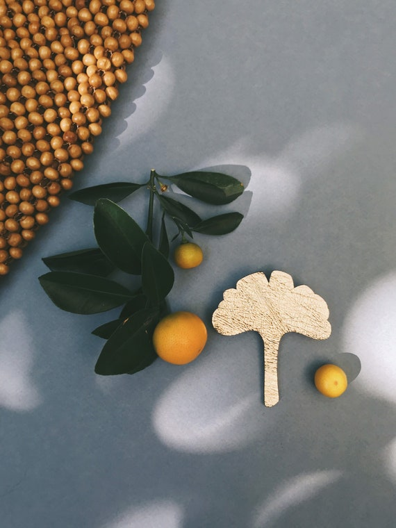 Adèle the Gingko leaf - handmade brooch