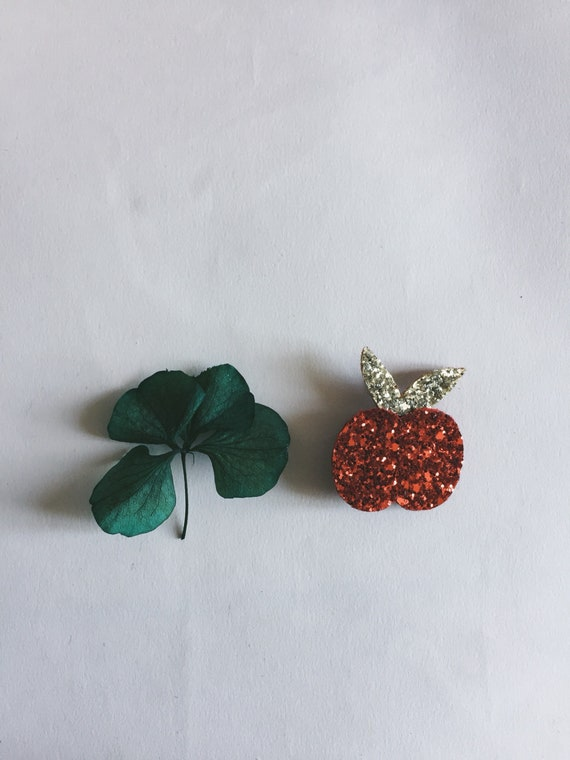 The Albertine Apple - Apple - Apple Brooch - Handmade - soft Cactus brooch - La Rochelle