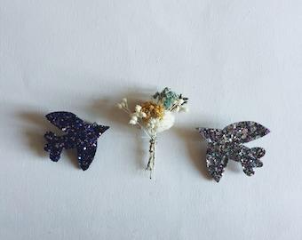 Paloma the bird - handmade brooch