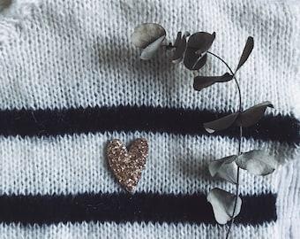 Little Heart - Sweet Heart - Brooch - Handmade - Tender Cactus