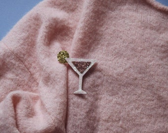 Cosmo the cocktail - handmade brooch