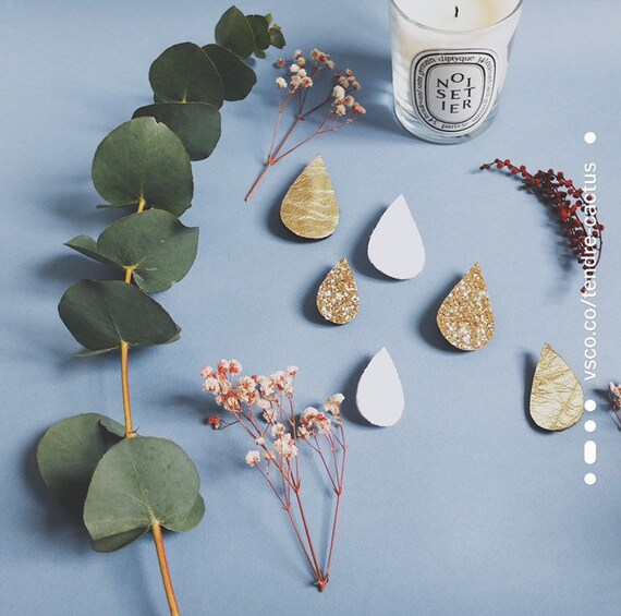 Broche Gouttes d'Or - Handmade Milk Drop with Love in La Rochelle - Tender Cactus