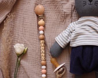 Natural dummy holder - handmade
