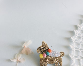 Diego the Peruvian lama - handmade brooch