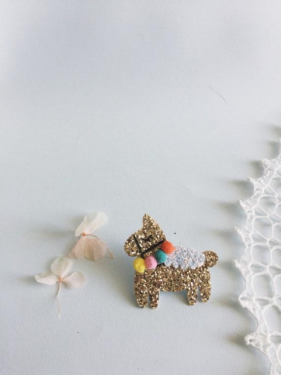 Diego Lama - pin - Brooch - Handmade - La Rochelle - soft Cactus