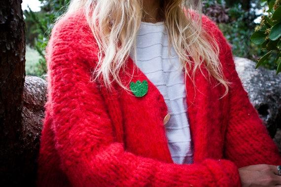 Brooch Aurora - Handmade - handmade - soft Cactus - the Rochelle