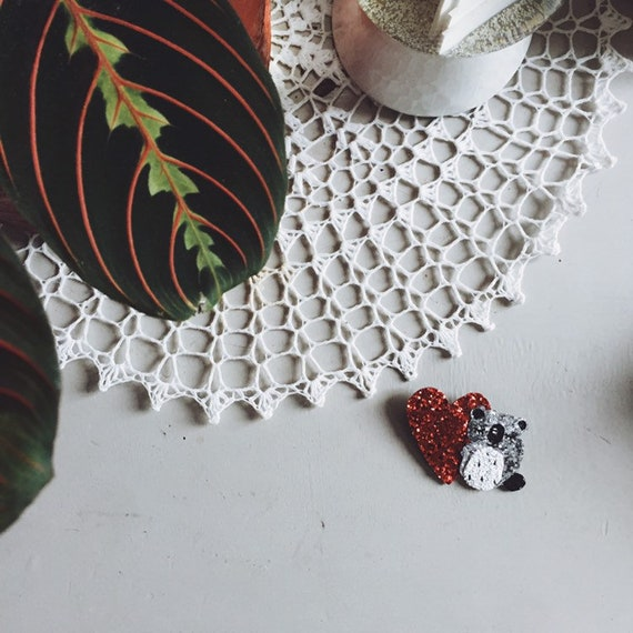 Polly the koala - handmade brooch
