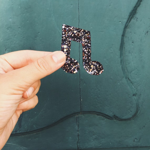 Brooch music note André made with love in La Rochelle