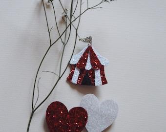 Circus tent - handmade brooch