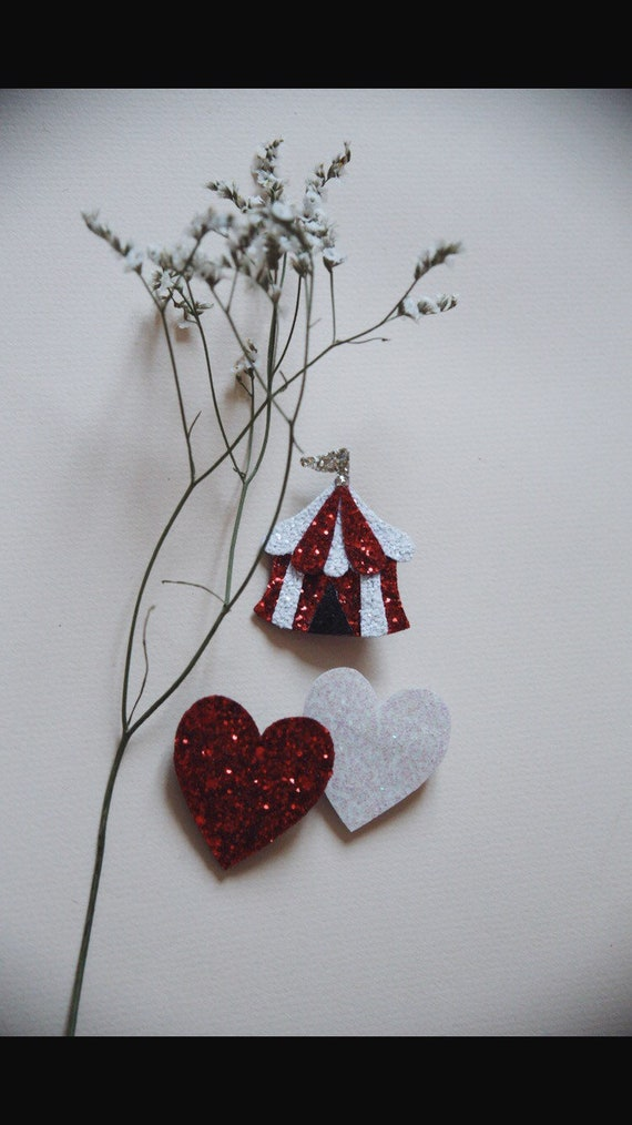 Circus brooch pretty handmade marquee with Love in La Rochelle