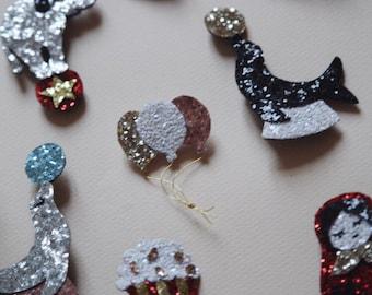 Popi the popcorn - handmade brooch