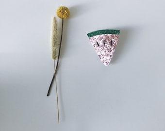 Lilou the watermelon - handmade brooch