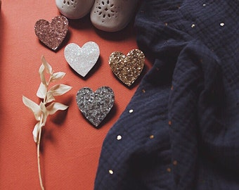 Côme the heart - handmade brooch