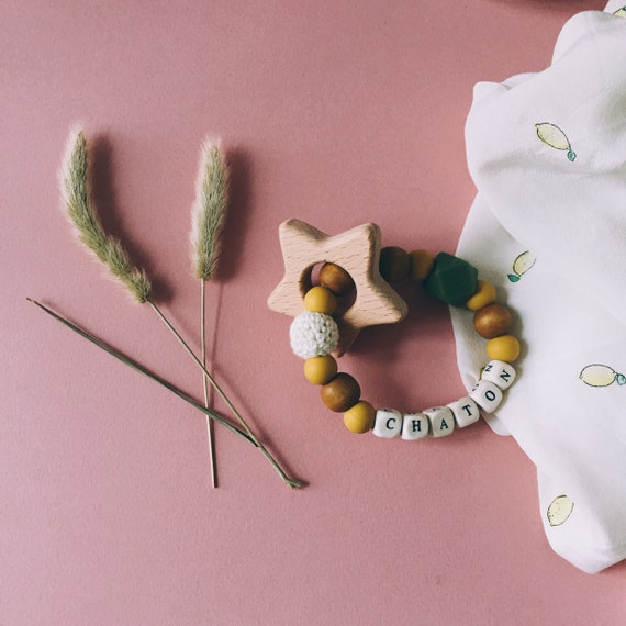 Teether baby kitten natural handmade sweet Cactus La Rochelle