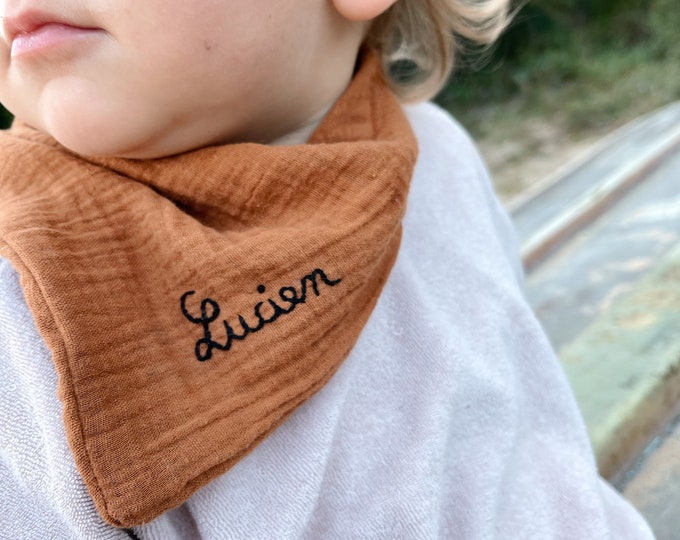 Featured listing image: Bandito small bandanas child Customizable hand embroidered in La Rochelle by Tendre Cactus