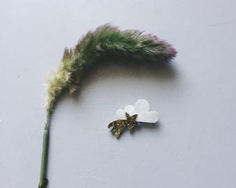 Cosmic duo (shooting star and cloud) - handmade brooch