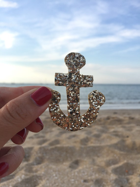 PIN anchor Navy Erick to glitter gold made handmade by the sea in La Rochelle