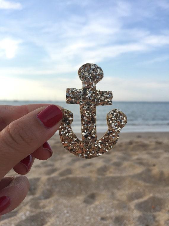 Marine Erick Straw Anchor Brooch Handmade at the seaside in La Rochelle