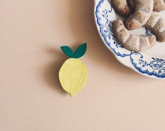 Cutie the lemon - handmade brooch