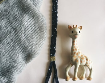 Long - cloth - Baby Teether - Handmade - soft Cactus pacifier holder