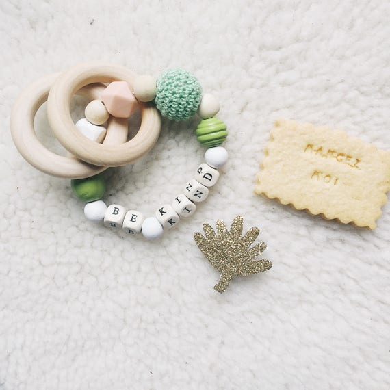 Be Kind Rattle - Baby Teether - Handmade - Tender Cactus - La Rochelle