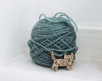 Mini brooch Ermano handmade cat with Love by Tender Cactus